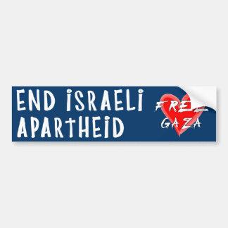 Enden-israelische Apartheid gibt Gaza frei Auto Sticker