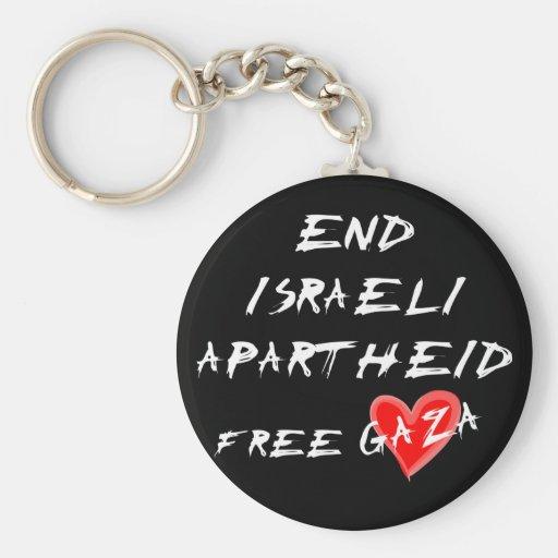 Enden-israelische Apartheid gibt Gaza frei Schlüsselanhänger