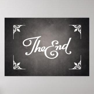 Enden-Titel-Kartenplakat