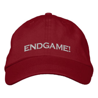 """ENDGAME! "", PC-SPIEL-SPIELER-KAPPE BESTICKTE KAPPE"