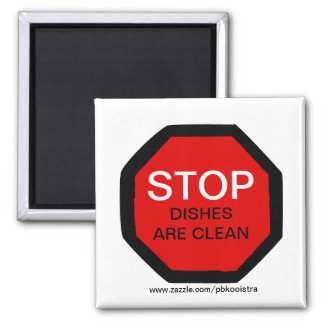 EndGeschirr ist- sauberer Spülmaschinen-Magnet Quadratischer Magnet