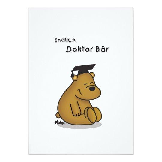 Endlich Doktor - Glückwunschkarte zum Doktortitel 12,7 X 17,8 Cm Einladungskarte