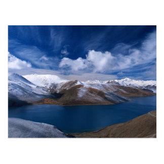 Endlose blaue Himmel Postkarte