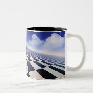 Endlose Gegenteil-Tasse Zweifarbige Tasse