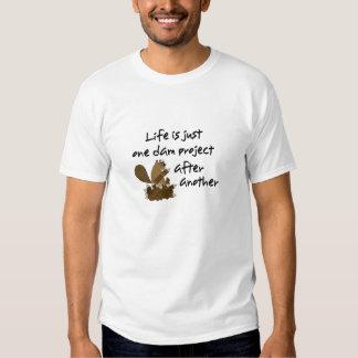 Endloser Biber-Projekt-Lustiger T - Shirt