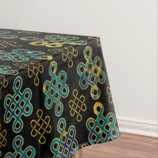 Endloses Knoten-Muster - Gold und Marmor Tischdecke