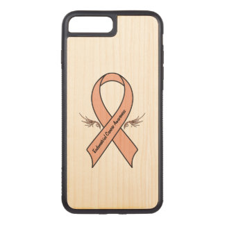 Endometrial Krebs-Bewusstsein Carved iPhone 8 Plus/7 Plus Hülle