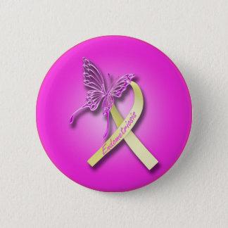Endometriosis-Band mit Schmetterling Runder Button 5,7 Cm
