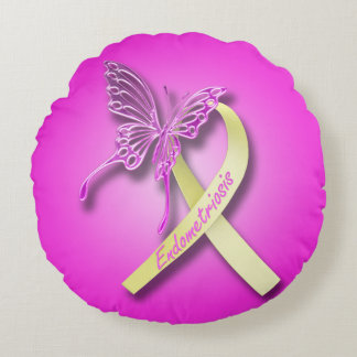Endometriosis-Bewusstseins-Kissen Rundes Kissen