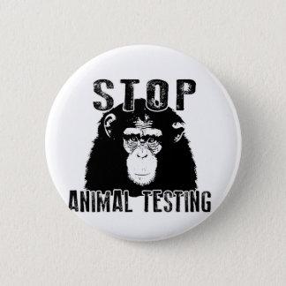 EndTierversuche - Schimpanse Runder Button 5,7 Cm