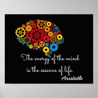 Energie des Verstandes - Aristoteles-Zitat Poster