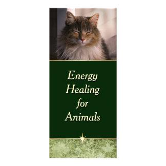 Energie, die für Tiere heilt Werbekarte