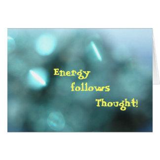 Energie folgt Gedanken     T… Karte