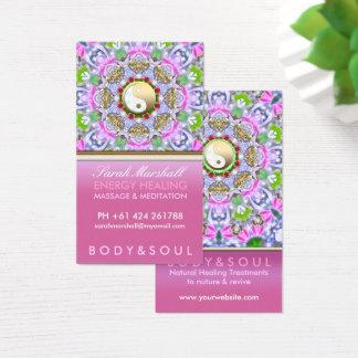 Energie-heilende holistische rosa visitenkarte