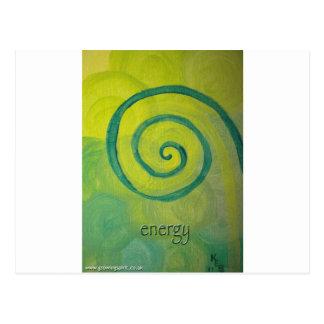 Energie-Herz-Kunst Postkarte