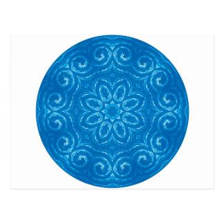 Energie-Mandala - Blau Postkarte