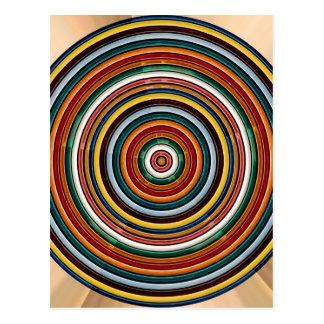 Energie-Rad Chakra SCHABLONE addieren TEXTIMG Postkarte
