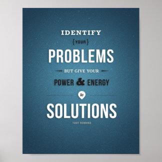 """Energie zu den Lösungen - 8"""""""" Druck der Kunst-x10 Poster"""