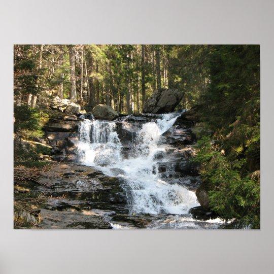 Energiebild Wasserfall Poster