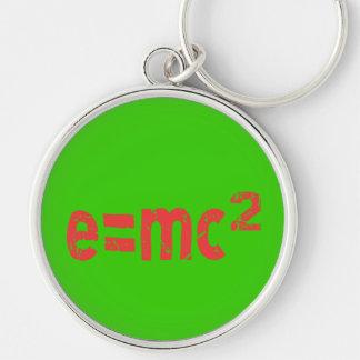 Energiegleichung von Physik Silberfarbener Runder Schlüsselanhänger