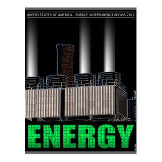 Energiewirtschaftliche Unabhängigkeit Postkarte