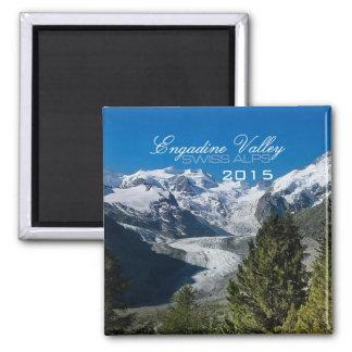 Engadine Tal-Schweizer Alpen-Magnet-Änderungs-Jahr Quadratischer Magnet
