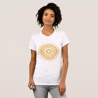 Enganliegendes Mandala Damen T-Shirt