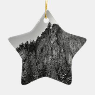 Enge-Berggipfel-Boulder-Schlucht Keramik Ornament