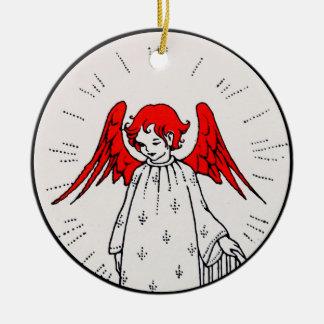 Engel an der Spitze der Treppe Keramik Ornament