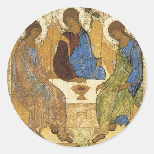 Engel an Mamre Dreiheit Runde Sticker