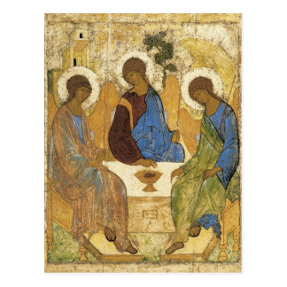 Engel an Mamre Dreiheit Postkarte