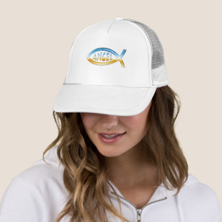 Engel - christliches Fisch-Symbol Truckerkappe