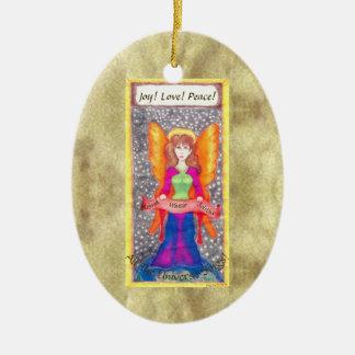 Engel der ErdWeihnachten-Sonnenwende Keramik Ornament