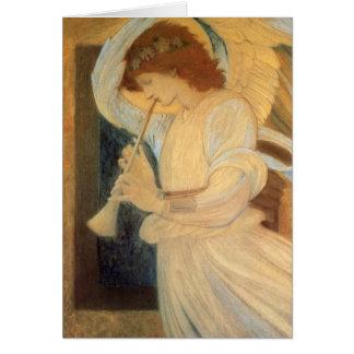 Engel, der Flageolett durch Burne Jones spielt Karte