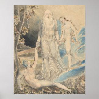 Engel der göttlichen Anwesenheit, die Adam Eve Poster