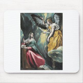 Engel, der mit Mary spricht Mousepad