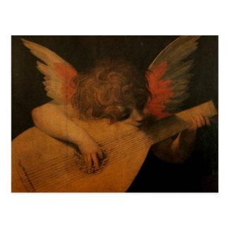 Engel, der Musik spielt Postkarte