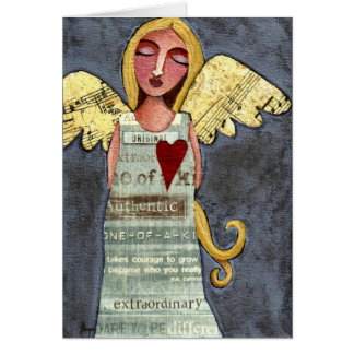 Engel des Mutes - Anlassgrußkarte Karte