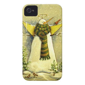 Engel des Schnee-4894 u. Vogel-Weihnachten iPhone 4 Case-Mate Hülle
