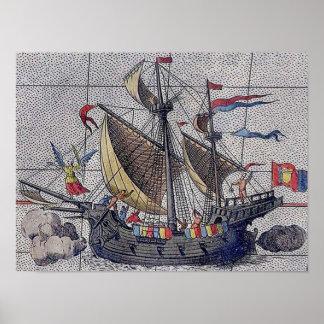 Engel des SeeSegelschiffs Poster