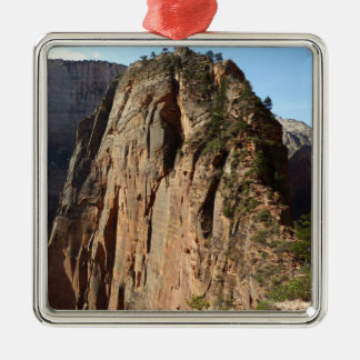 Engel, die an Zion Nationalpark landen Quadratisches Silberfarbenes Ornament
