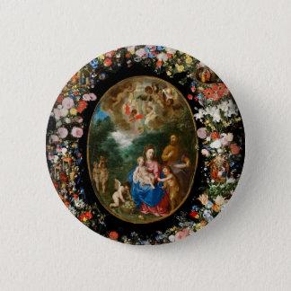 Engel, die Geschenke anbieten Runder Button 5,7 Cm