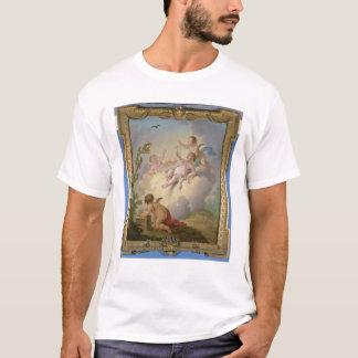 Engel, die mit einem Vogel in einer Landschaft T-Shirt