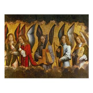 Engel, die Musikinstrumente spielen Postkarte