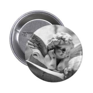 Engel, die über mich aufpassen runder button 5,7 cm
