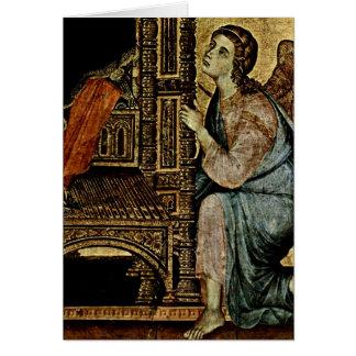 Engel durch Duccio Grußkarte