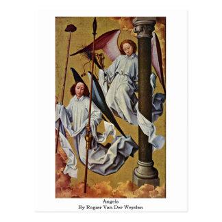 Engel durch Rogier van der Weyden Postkarte