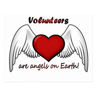 Engel erbietet Postkarte freiwillig