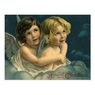 Engel frohen Weihnachten Vintag Postkarte