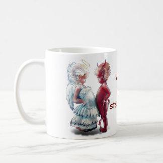 Engel GEGEN Teufel-Tasse Tasse